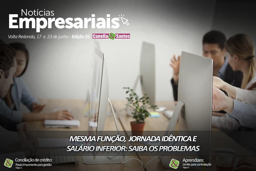 Capa Noticias Empresariais Edição 25 Site - Blog -  Canella E Santos Assessoria Empresarial E Contábil